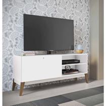 Rack para TV até 55 Polegadas 1 Porta de Correr 0806 Retrô Genialflex Branco -