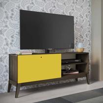 Rack para TV até 55 Polegadas 1 Porta de Correr 0806 Retrô Genialflex Demolição/Amarelo -