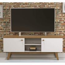 Rack para TV até 55 Polegadas 2 Portas Trend Retrô Artesano Hanover/Branco -