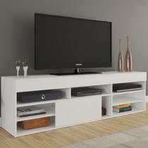 Rack para TV até 55 Polegadas Cedro Espresso Móveis Branco -