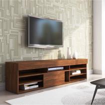 Rack para TV até 55 Polegadas Cedro Siena Móveis Off White/Pinho -