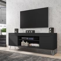 Rack Para TV Até 60 Pol Móveis Bechara Chanel 2 Portas Preto Fosco -