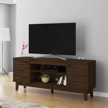 Rack para TV até 60 Polegadas 2 Portas 1.6 Retrô Malibu Móveis Germai Rustic/Capuccino - Móveis  germai