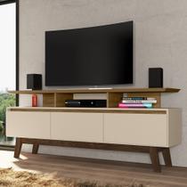 Rack Para Tv Até 60 Polegadas 3 Portas Cinamomo/off-white - Bechara - Móveis Bechara