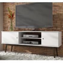 Rack para TV Bpi 11-143 Branco/Carvalho Escuro - Brv móveis