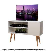 Rack Para Tv com 2 nichos Vancouver Branco - Moveise -