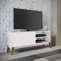 Rack para TV com Porta de Correr GenialFlex - Branco -