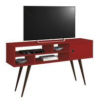 Rack para TV Kenzo Vermelho - Edn Móveis -