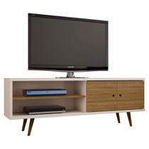 Rack Para Tv Pé Palito 160 Cm Cor off white com 2 portas - Bechara