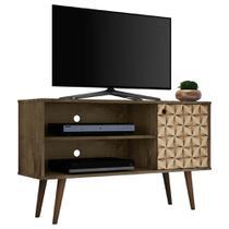 Rack para Tv Pequeno Para Sala Ou Quarto 108 Cm Marrom - Bechara