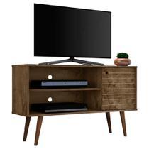 Rack Para Tv Pequeno Sala Ou Quarto 108 Cm Marrom Rústico - Bechara