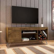 Rack Retro Para Tv 136 Cm estilo rústico Com Pé Metálico - Bechara