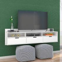 Rack Suspenso Pênsil Branco 180 cm - Olivar móveis