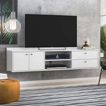 Rack Suspenso Torrens Branco 162 cm - Olivar móveis