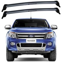 Rack Teto Ford Ranger 2013 Até 2017 Bagageiro Eqmax Prata -