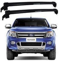 Rack Teto Ford Ranger 2013 Até 2017 Bagageiro Eqmax Preto -