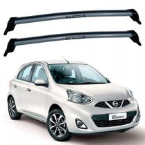 Rack Teto Nissan March New March 2011 Até 2019 Eqmax Prata -