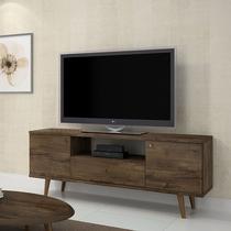 Rack Titânio para TV até 60 polegadas JCM 02 Portas 01 Gaveta Retrô