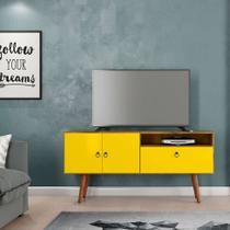 Rack Topazio Nature e Amarelo 137 cm - Patrimar