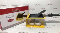 Raclete De Metal Amarelo Com Panela + Fogareiro 100ml - Hauskraft