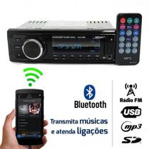 Rádio 1 Din Fm Mp3 Bluetooth Usb Sd Tiger Auto Som automotivo