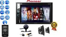 Rádio 2 Din Multimidia Pioneer Avh-G228Bt Bluetooth Dvd Cd Usb + Câmera Moldura Focus Ka Eco Ranger -