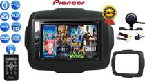 Rádio 2 Din Multimidia Pioneer C/ Controle, Bluetooth Cd Dvd Usb + Câmera Ré Moldura Renegade 15/21 -