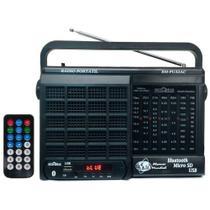 Rádio 7 Faixas / Bluetooth/ Cartão micro SD/ USB e Controle Remoto/Motobras - Motobrás