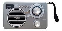 Rádio Am/fm Portátil C/ Lanterna Alça Relógio Usb Bluetooth - Master