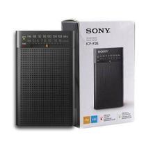 Rádio Am Fm Portátil Sony Icf-P26 -