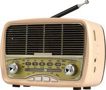 Radio Am Fm Retrô Antigo Usb Sd Mini Som Bluetooth Portatil - Master
