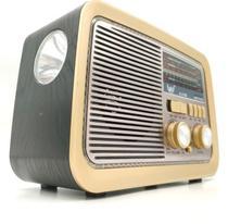 Rádio Am Fm Retro Vintage Sw Usb YS 3188BT - Pilha Bateria E Tomada - Caixa Som Estilo Antigo   Ft - Ys3188Bt