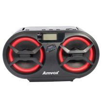 Rádio Amvox AMC-595, CD, USB, Auxiliar, Bluetooth, Rádio FM, Display Digital, 15W RMS - Preto