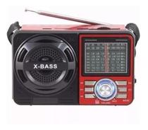 Rádio Antigo Vintage Retrô A-1088 Altomex Fm Am Pendrive Sd Preto Vermelho -