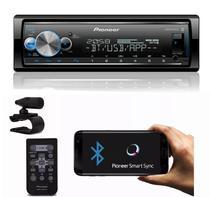 Radio aparelho de Som Mp3 Bluetooth Usb Mvh-x7000br 3 Rca Colorido Spotify - Pioneer