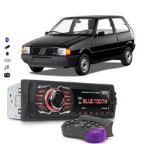 Rádio Automotivo Bluetooth Aparelho De Som Fiat Uno Usb Sd Card - Knup