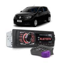 Rádio Automotivo Bluetooth Aparelho De Som Renault Sandero Logan Usb Sd Card - Knup