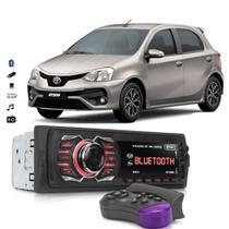 Rádio Automotivo Bluetooth Aparelho De Som Toyota Etios Usb Sd Card - Knup
