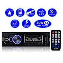 Radio Automotivo Bluetooth Auto Rádio Som Carro Mp3 Usb Fm - Sage
