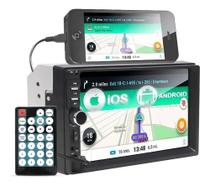 Rádio Automotivo Dvd 2 Din Central Multimídia Universal Bluetooth Usb Espelha Pen Drive Som Carro - First Option