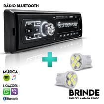 Radio Automotivo MP3 Bluetooth SD USB FM Controle LED - Uberparts