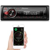 Radio automotivo mp3 usb bluetooth media receiver pioneer mvh-218bt -
