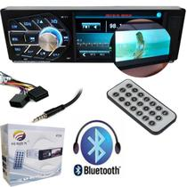 Radio Automotivo Mp5 bluetooth FM Tela Lcd Controle Remoto Cartao USB Carro Musica Video (4124/Sem Camera de Ré)) - Ideal