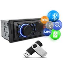 Rádio Automotivo Multilaser Trip BT MP3 Player 1 Din USB Auxiliar Rádio FM Controle SmartBT iPlug -