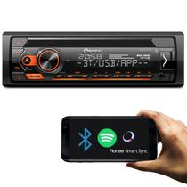 Rádio Automotivo Pioneer DEH-S4280BT Som Bluetooth MP3 Player 1 Din Interface Android Iphone USB AUX -