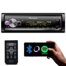 Rádio Automotivo Pioneer MVH-X3000BR Som Bluetooth MP3 Player 1 Din Interface Android Iphone Mixtrax -