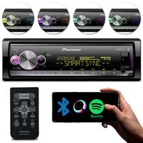 Rádio Automotivo Pioneer MVH-X7000BR Toca CD Som Bluetooth MP3 Player 1 Din Spotify Mixtrax Sync