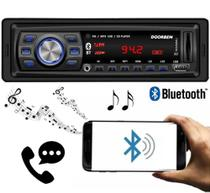 Rádio Automotivo Player Doorbem FM MP3 Usb Bluetooth Auxiliar Frontal -