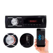Rádio Automotivo Player FM MP3 Usb Bluetooth Auxiliar Frontal 4x50w - Cinoy