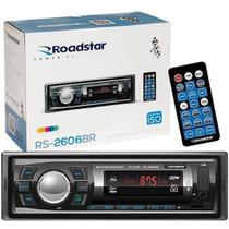Rádio Automotivo Roadstar Bluetooth USB Sd Auxiliar